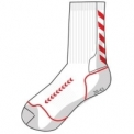 Advanced Indoor sock low blanco/rojo