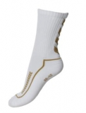 Advanced Indoor sock low blanco/oro